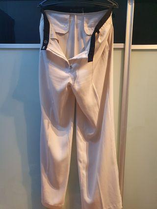 Zara White Pants