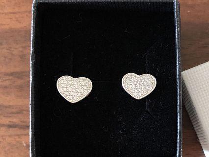 Italian Heart Pavè earrings