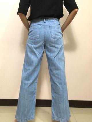 韓cherrykoko-夏日牛仔寬褲 直筒
