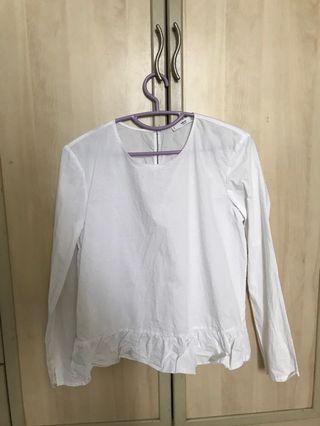 White blouse shirt top