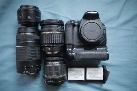 Canon 550D with 4 Lens