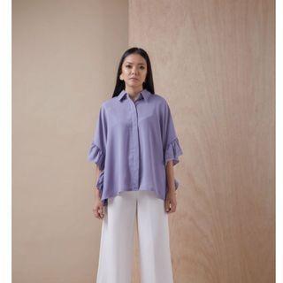 Ball&Belly / ShopatBNB - Lonna Top Lavender / Kemeja Casual