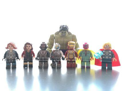 Third party brick superheroes minifigure
