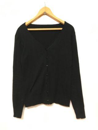 針織小外套 基礎罩衫 黑