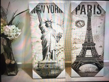 New York & Paris Art Painting ( Unopened )