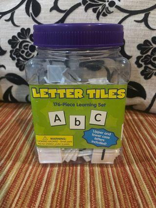 🔥 Letter tiles learning educational toys