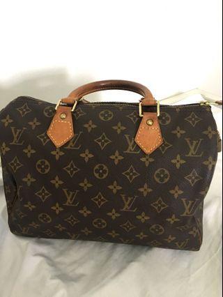 100% Authentic Louis Vuitton Speedy 30 tote bag