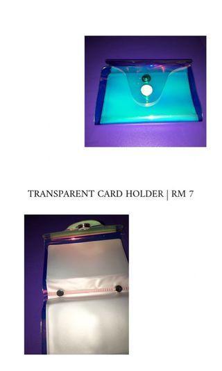 TRANSPARENT PHOTOCARD/CARD HOLDER