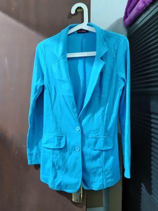 Blazer Biru Pink Emma