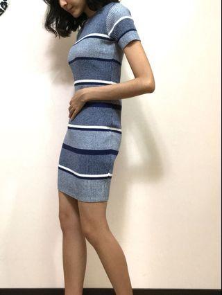 zara全新試穿 土耳其條紋針織洋裝