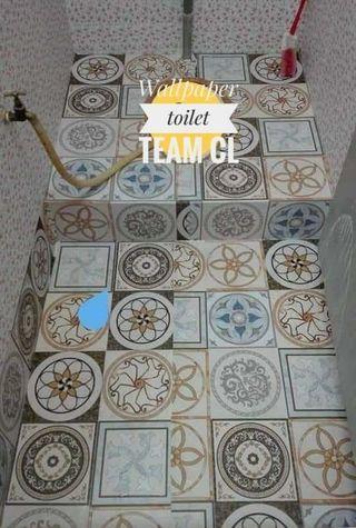 Wallpaper lantai toilet