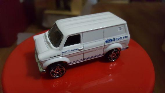 Hotwheels Ford Transit Van 1st Edition (White) drilled rivet loose *classic *vintage