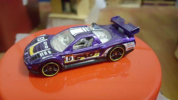 Hotwheels Acura NSX (Purple) rivet loose *racing *JDM