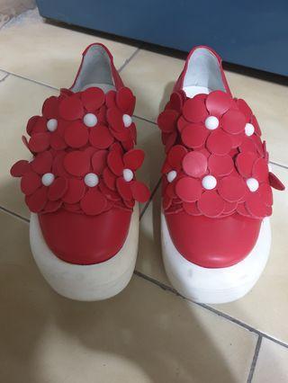 🔴私物🔴Tokyo bopper878 紅色花瓣 flowershoes red
