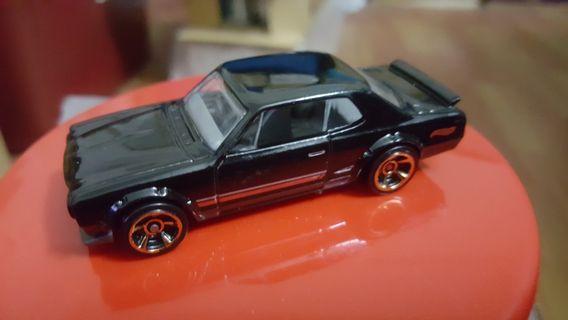 Hotwheels Nissan Skyline 2000 GT-R (Black) loose rivet *classic *vintage *Hako *without rollcage variation