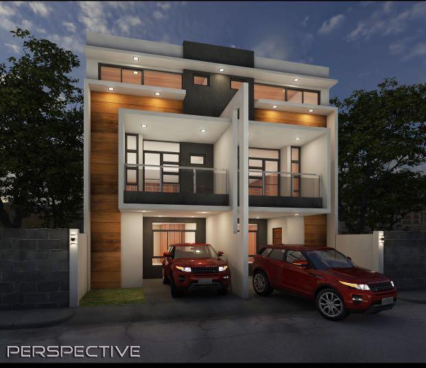 3 Storey House Design Roof Deck