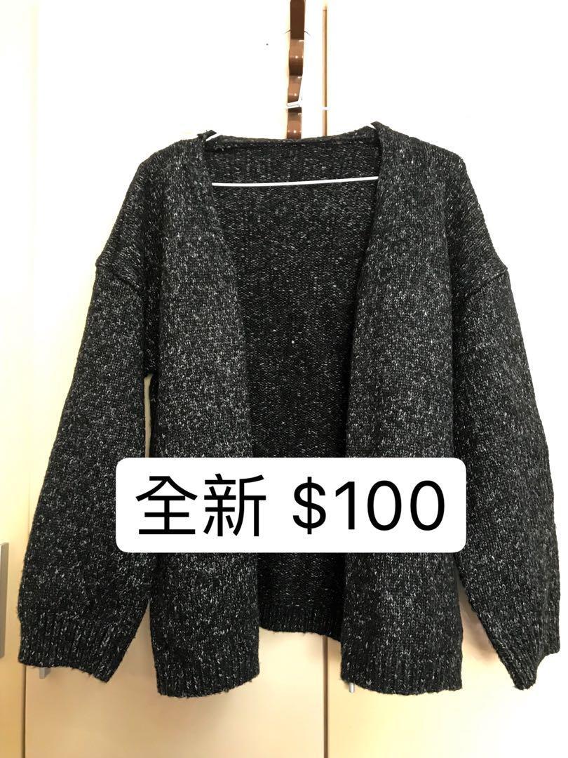 【全新】淘寶購入 灰黑色針織外套