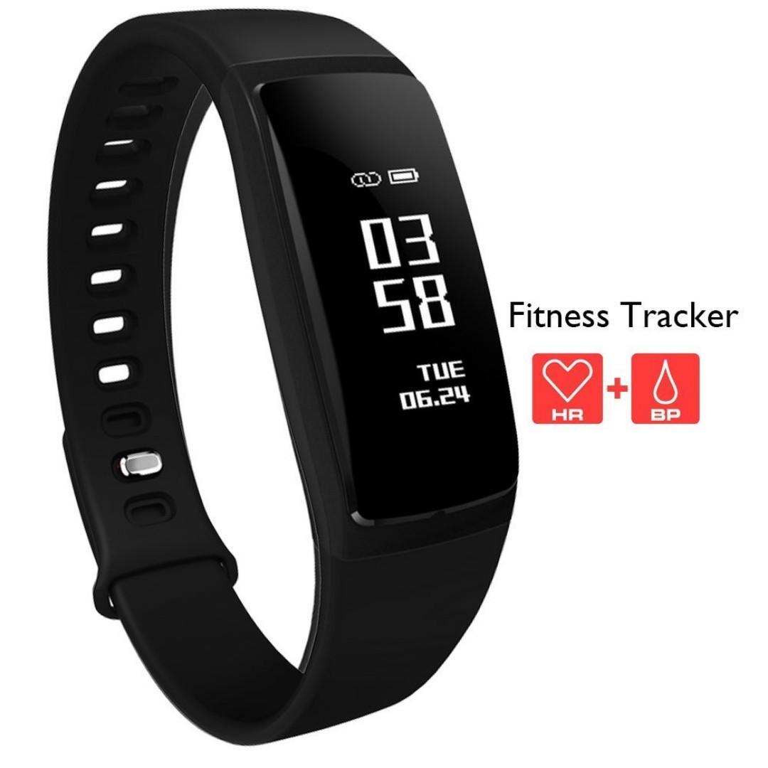 Bluetooth Sport Heart Rate Monitor Smart Bracelet (Black)