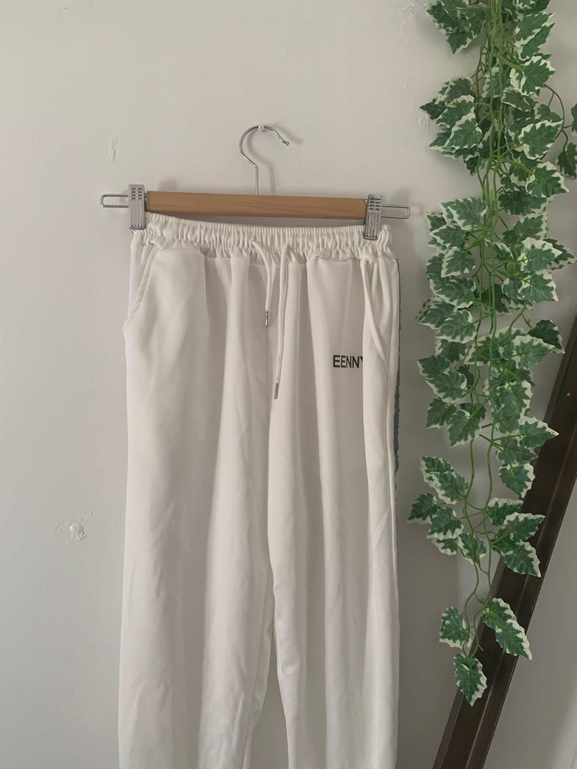 BNWOT Reflective Striped White Joggers Track Pants