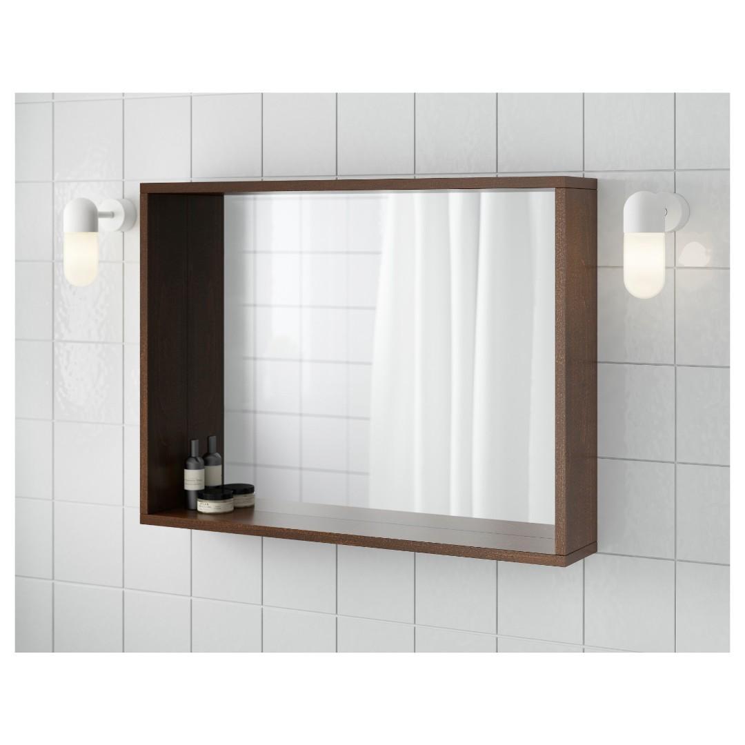 (BRAND NEW) IKEA MOLGER Bathroom Mirror Shelf