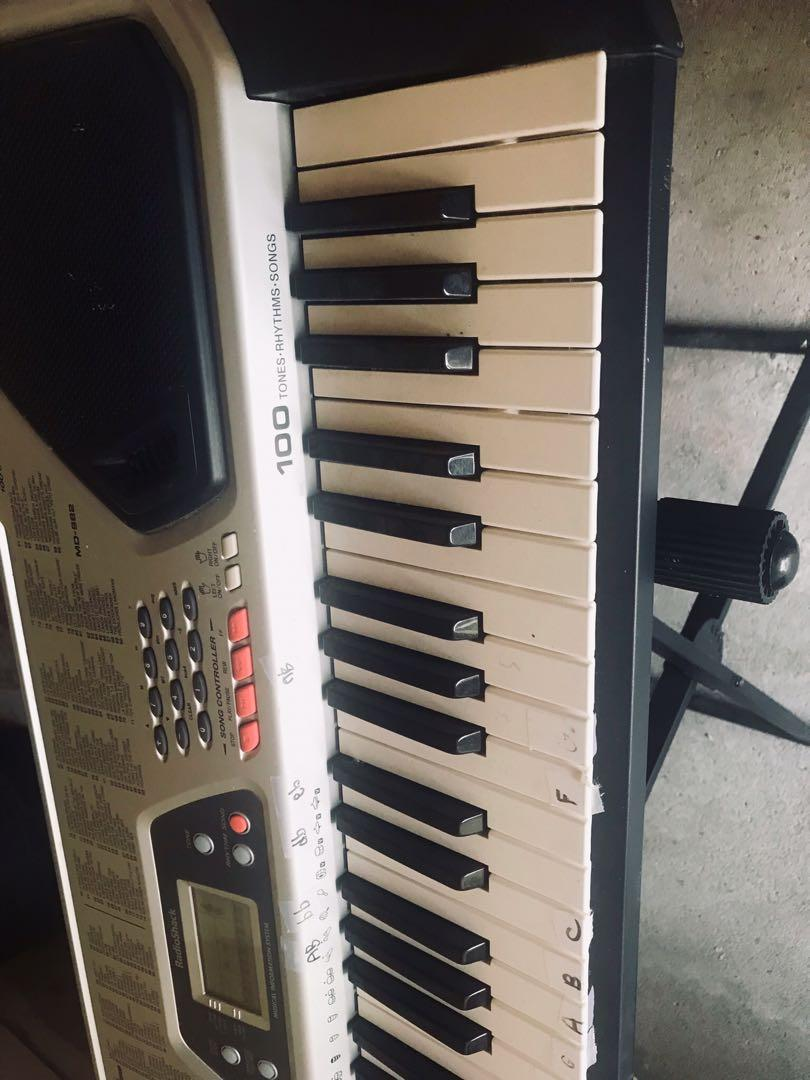 Electronic Keyboard 100 tones& songs 100 rhythms with X Keyboard stand