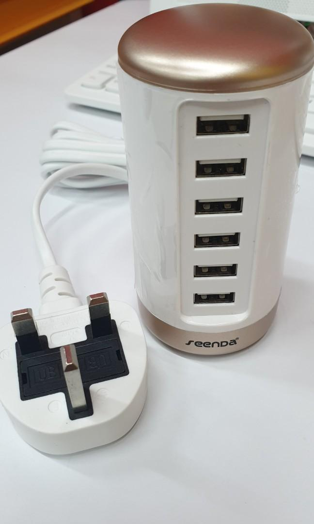6 port USB desktop charger