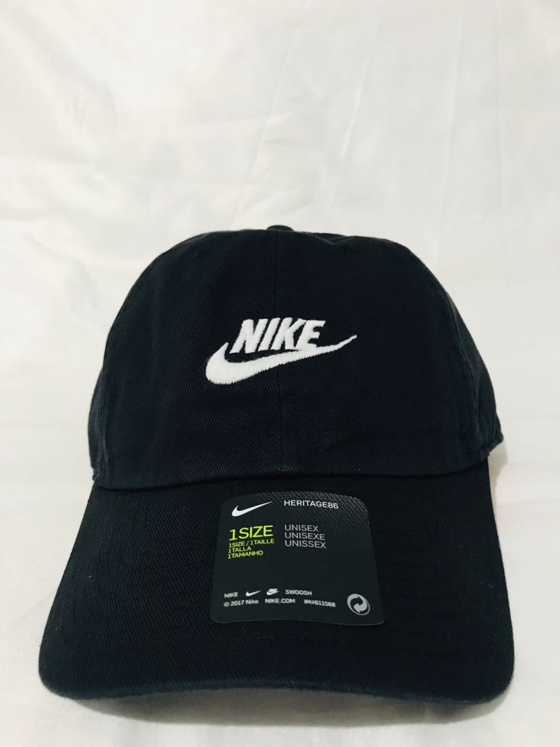 disparar incrementar Pino  Nike Heritage 86 Cap (BLACK) - currently out of stock, Men's Fashion,  Accessories, Caps & Hats on Carousell