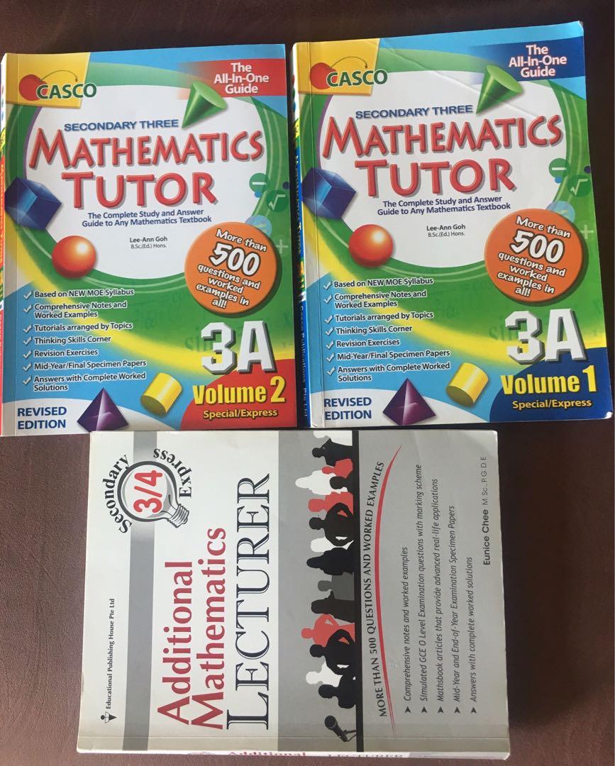 Sec3 Math and Advanced Math books, Books & Stationery