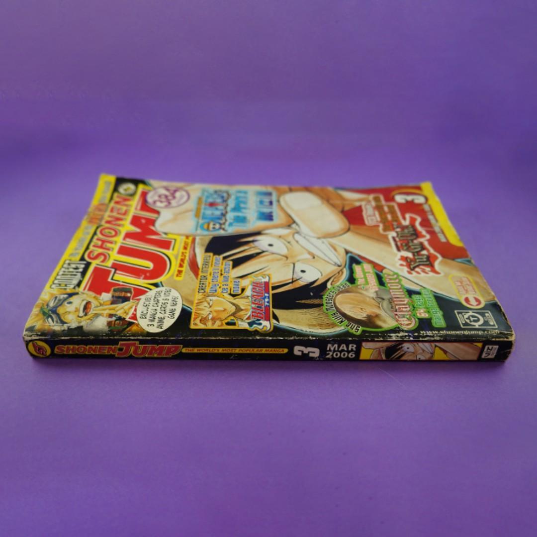 Shonen Jump - Volume 4, Issue 3, March 2006 (Claymore, Naruto, Shaman King, One Piece, Hikaru no Go, Yu Yu Hakusho, Yu-Gi-Oh! - Millennium World)
