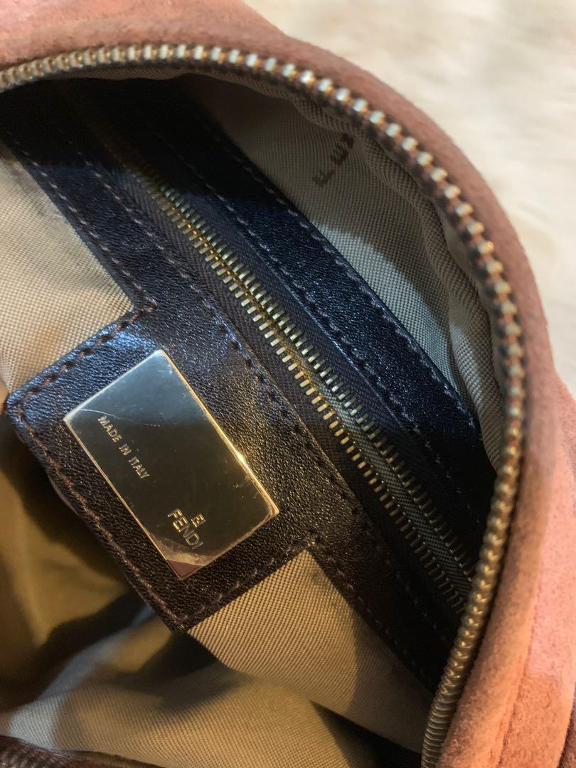 Size 36 x 24 x 8 cm fendi shoulder bag suede leather authentic dalam bersih cantik