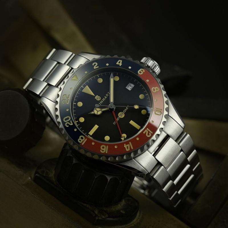 STEINHART AUTOMATIC Ocean 39 vintage GMT Premium blue/red 德國品牌瑞芯瑞製39mm 103-0986