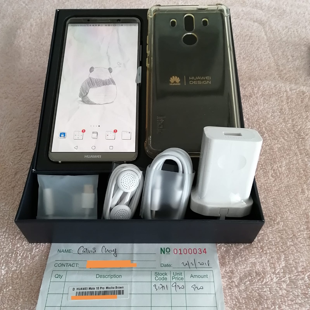 USED HUAWEI MATE 10 PRO - Mocha Brown, Mobile Phones