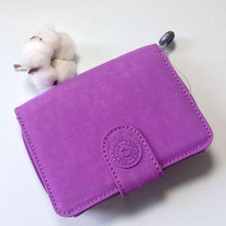 美國🇺🇸購回 Kipling 紫色短夾 全新品 lilac dream purple 便宜轉賣 AC2399-NEW MONEY