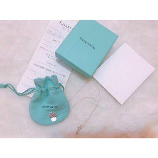 Tiffany&co. 雙愛心純銀項鍊 付購證 防塵袋 紙盒 紙袋 狀況良好
