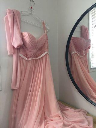 pink wedding/prom dress