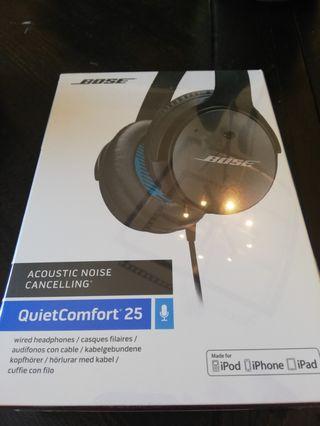 Bose quiet comfort 25 brand new headphones