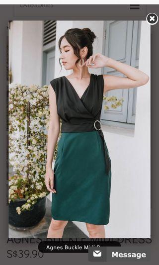 Agnes Buckle Midi Dress