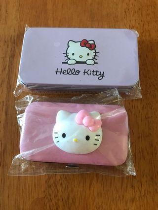 全新 凱蒂貓化粧刷和指甲組