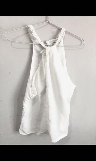 Halter tank top white mayoutfit
