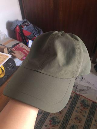 Cotton on green army cap