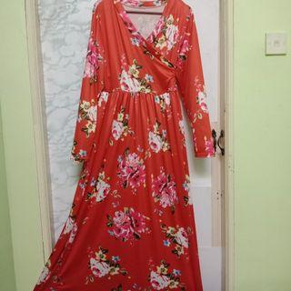 MURAH! [Include postage] Red floral dress