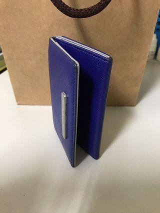 Agnes b.名片夾卡夾(靛藍)二手自用