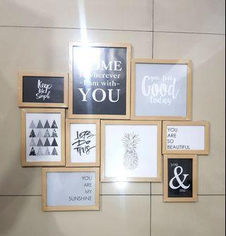 9 Pcs Frame Foto Mininalis Kayu Informa Ace Kris no Ikea