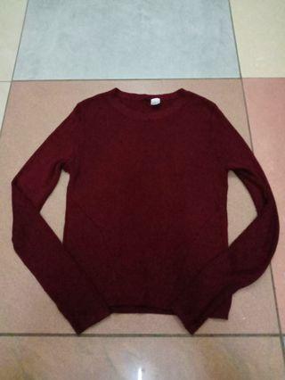 H&M Red Light Sweater