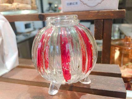 復古小玻璃圓瓶