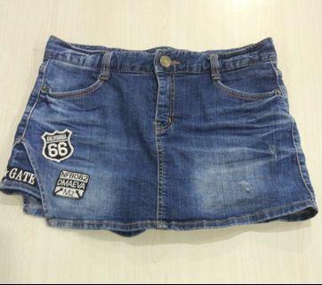 Jeans skort