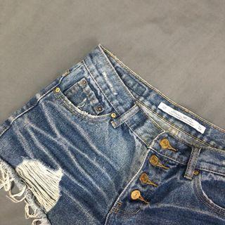 實拍🔥高腰 顯瘦牛仔褲