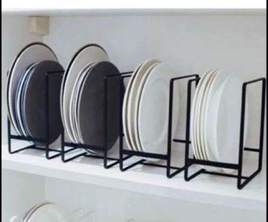 《全新》歐風 廚房直立式盤子收納架/瀝水架
