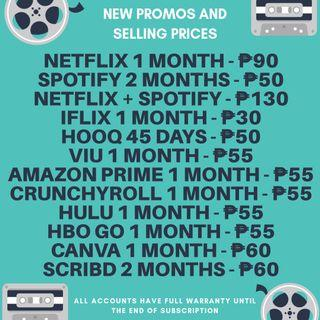 spotify and netflix premium account | Music & Media | Carousell