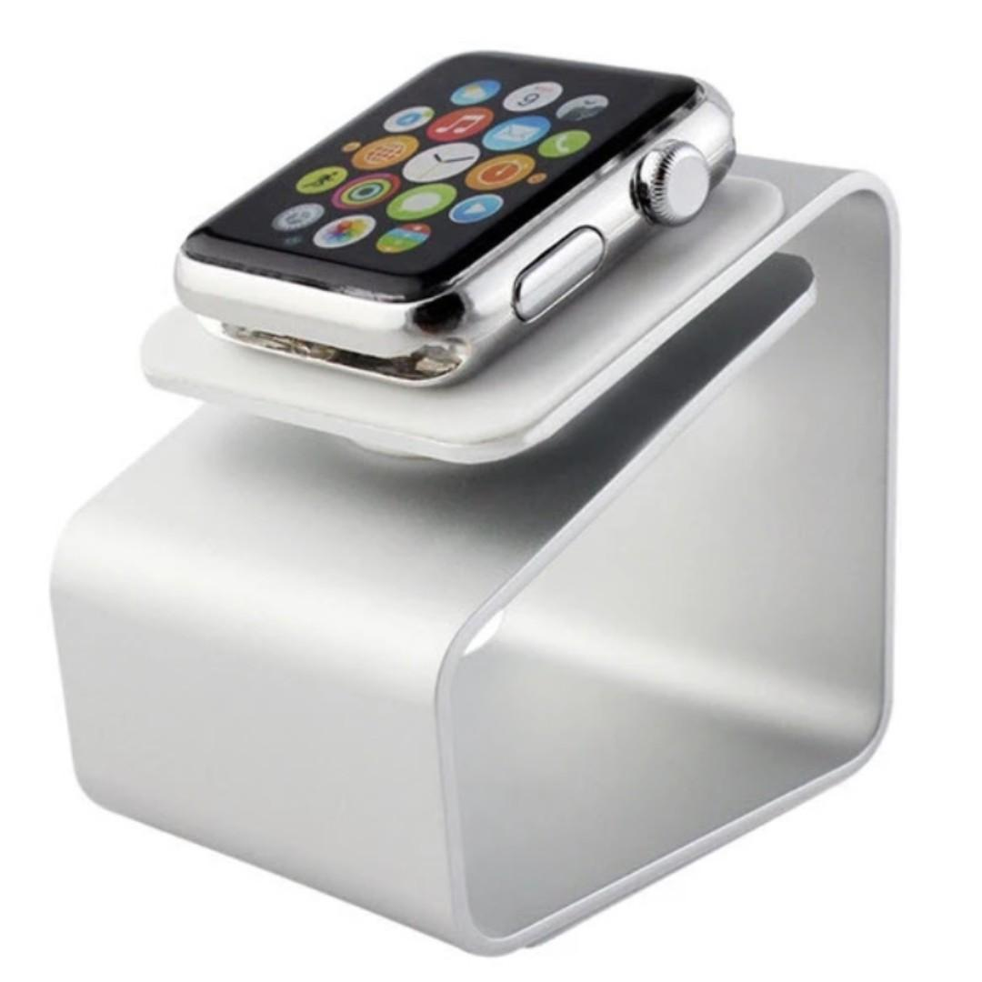 BEST DEAL!! Apple Watch Charging Stand Silver Aluminium Compact for All Series and Sizes in Retail Box
